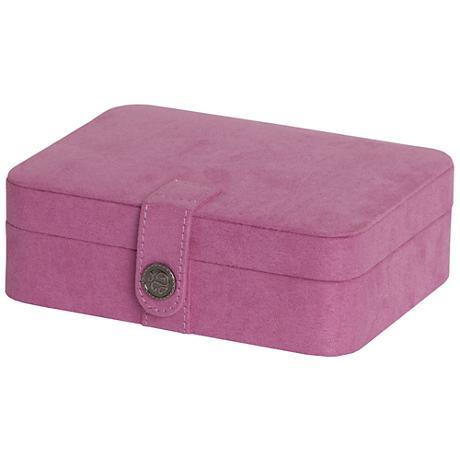 Mele & Co. Giana Plush Pink Fabric Jewelry Box