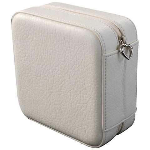 Mele & Co. Dana Ivory Faux Leather Square Jewelry Box