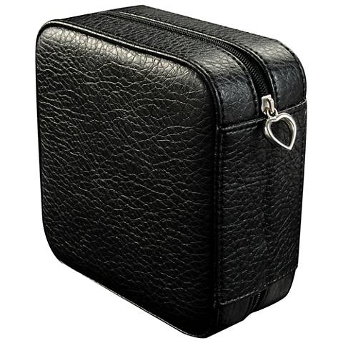 Mele & Co. Dana Black Faux Leather Square Jewelry Box