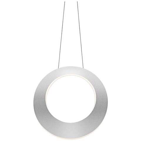 "Haro 15 3/4"" Wide Bright Satin Aluminum LED Pendant Light"