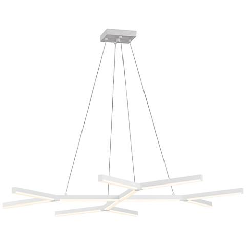 "Sonneman Quad-Y 46 1/2"" Wide Satin White LED Island Pendant"