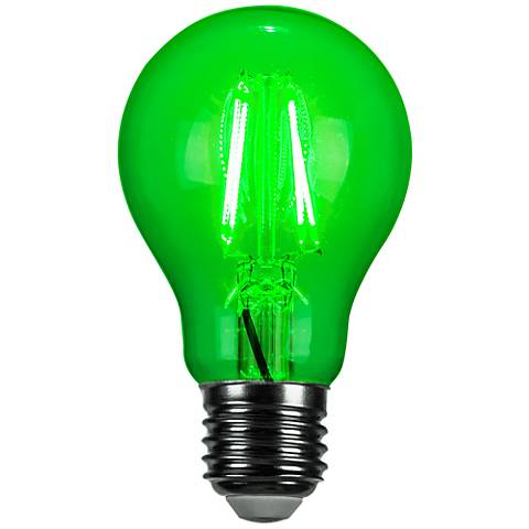 Green 4 Watt LED A19 Filament Party Light Bulb