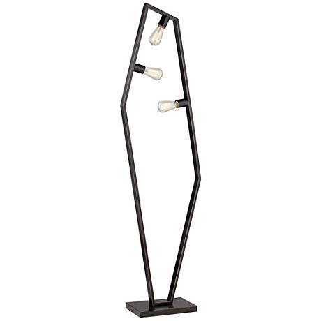 Hexamination Bronze 3-Light Floor Lamp