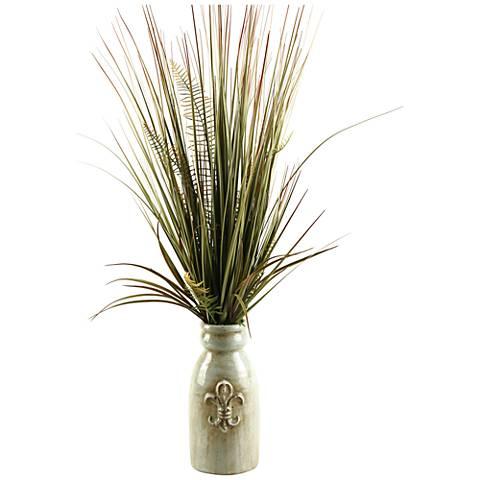 "Mixed Grasses 34"" High in Ceramic Planter"