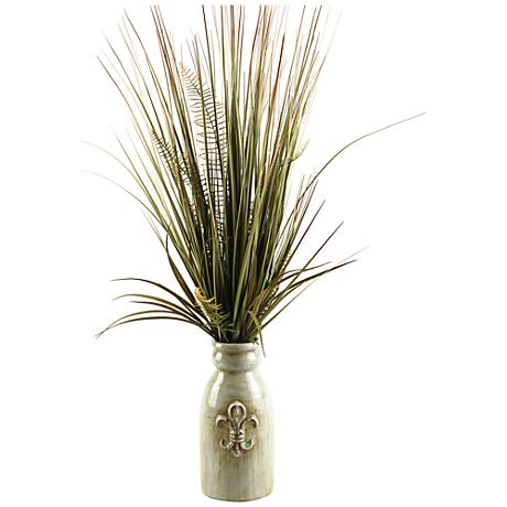 "Mixed Grasses 34"" High in Ceramic Planter"