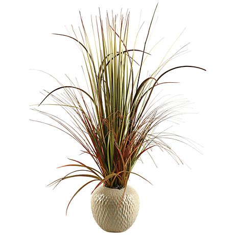 "Mixed Grasses 32"" High in Ceramic Planter"