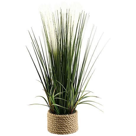 "Mixed Grasses 30"" High in Ceramic Planter"