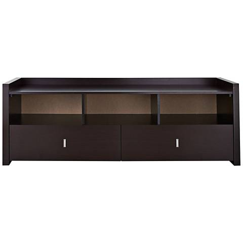 Morgana Espresso Wood 2-Drawer TV Stand
