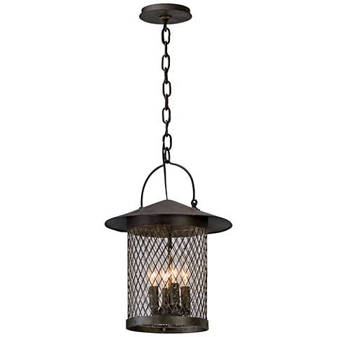 """Altamont 17 3/4""""H French Iron Outdoor Hanging Light"""