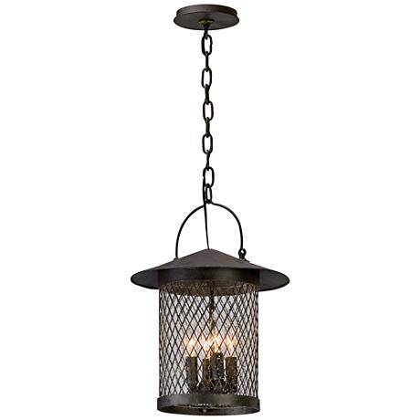 "Altamont 17 3/4""H French Iron Outdoor Hanging Light"
