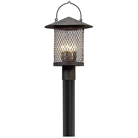 "Altamont 19 1/2"" High French Iron Outdoor Post Light"