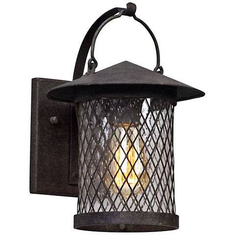 "Altamont 11 1/4"" High French Iron Outdoor Wall Light"