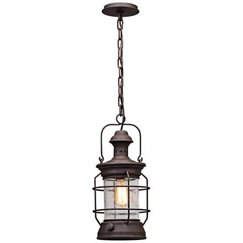 "Atkins 17 1/2""H Centennial Rust Outdoor Hanging Light"