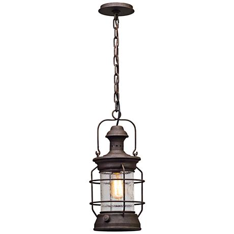 "Atkins 17 1/2""H Centennial Rust Outdoor Hanging Light"