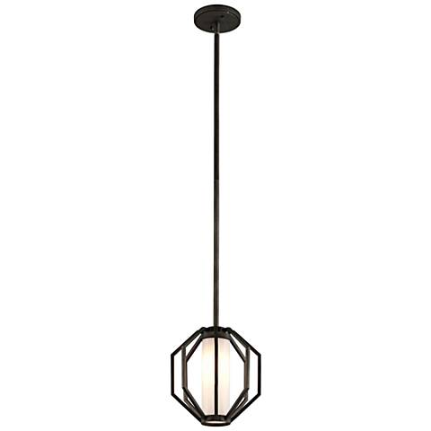 "Boundary 11 1/2""H Graphite LED Outdoor Hanging Light"