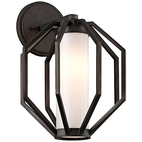 """Boundary 14 1/2""""H Textured Graphite LED Outdoor Wall Light"""