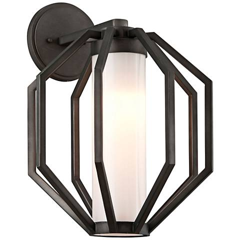 "Boundary 16 1/2""H Textured Graphite LED Outdoor Wall Light"