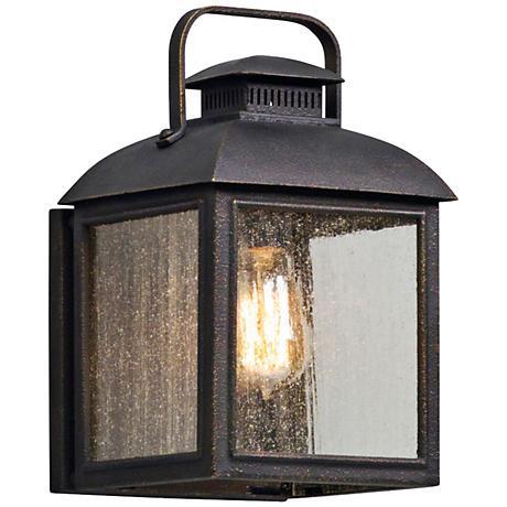 """Chamberlain 12 1/4"""" High Vintage Bronze Outdoor Wall Light"""