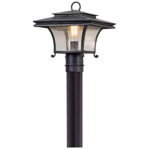 "Grammercy 13 1/4"" High Forged Iron Outdoor Post Light"