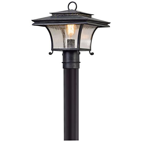"""Grammercy 13 1/4"""" High Forged Iron Outdoor Post Light"""