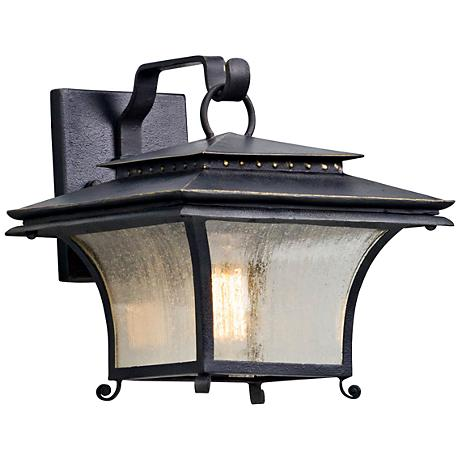 """Grammercy 10 1/4"""" High Forged Iron Outdoor Wall Light"""