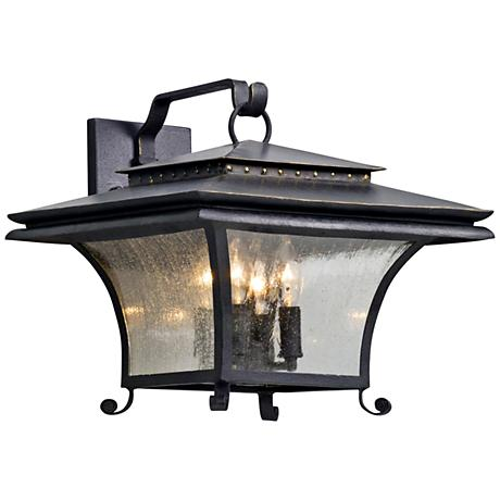 """Grammercy 13 1/4"""" High Forged Iron Outdoor Wall Light"""