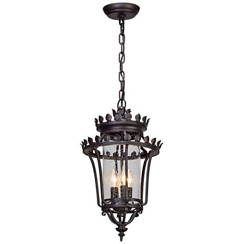 "Greystone 20 1/4"" High Forged Iron Outdoor Hanging Light"