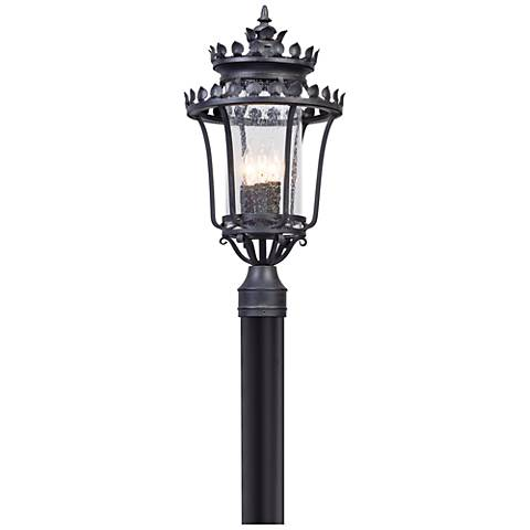 "Greystone 21 3/4"" High Forged Iron Outdoor Post Light"