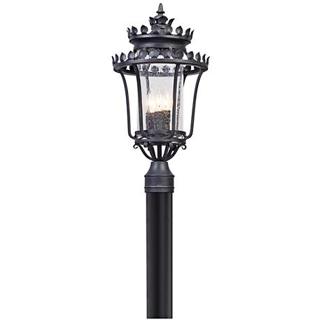 """Greystone 21 3/4"""" High Forged Iron Outdoor Post Light"""