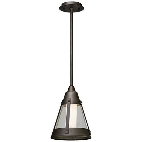 "North Bay 13 1/2"" High Graphite LED Outdoor Hanging Light"