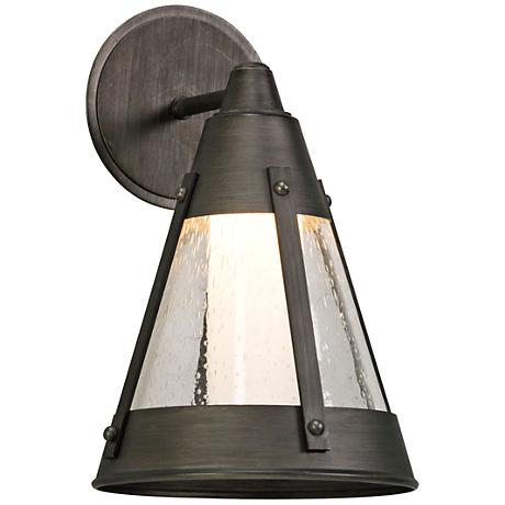 "North Bay 12 3/4"" High Graphite LED Outdoor Wall Light"