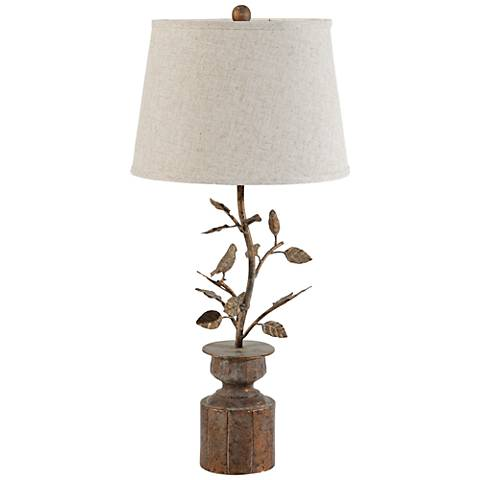 Finch Antiqued Bronze Metal Table Lamp