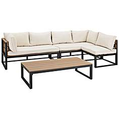 Nathan Natural All Weather 4 Piece Patio Conversation Set