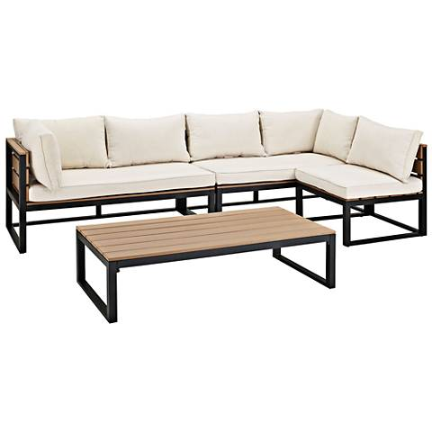Nathan Natural All-Weather 4-Piece Patio Conversation Set