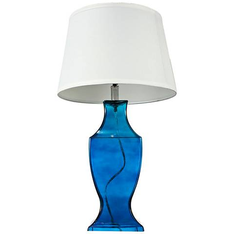 Alansonn Glass Blue Table Lamp