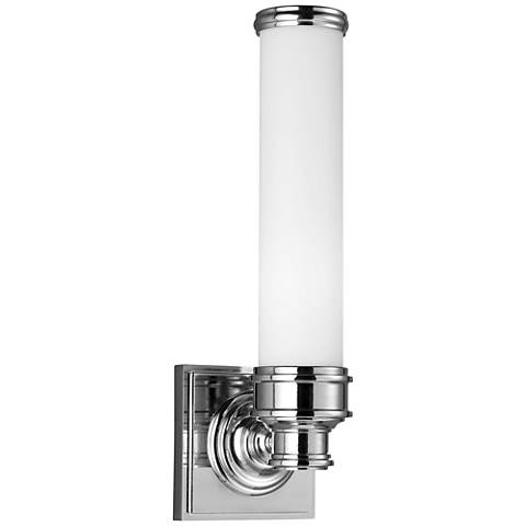 "Feiss Payne 14 1/4""H Polished Nickel Wall Sconce"