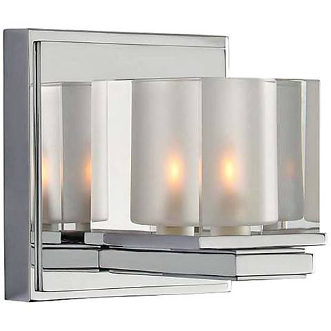 "Naples 5"" Wide Chrome 1-Light Wall Sconce"