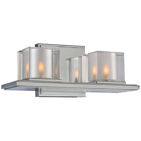 "Naples 12 1/2"" Wide Chrome 2-Light Bath Light"
