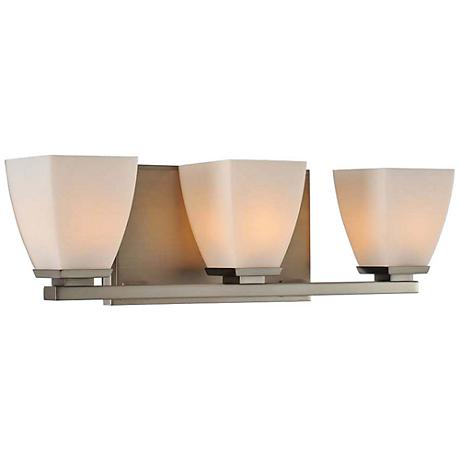 "Huntington 18 1/2"" Wide Satin Nickel 3-Light Bath Light"