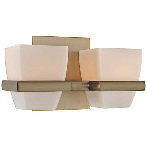 "Malibu 10"" Wide Brushed Bronze 2-Light Bath Light"