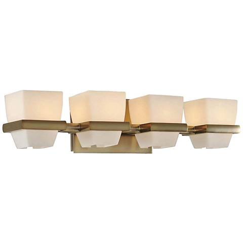 "Malibu 22"" Wide Brushed Bronze 4-Light Bath Light"