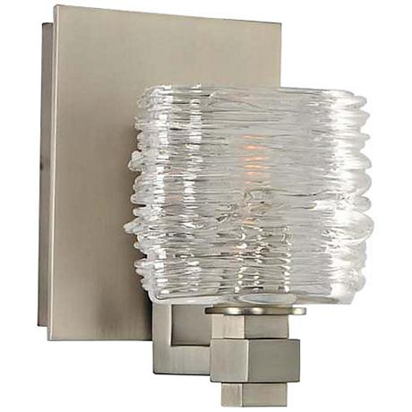"""Clearwater 5"""" Wide Satin Nickel 1-Light Wall Sconce"""