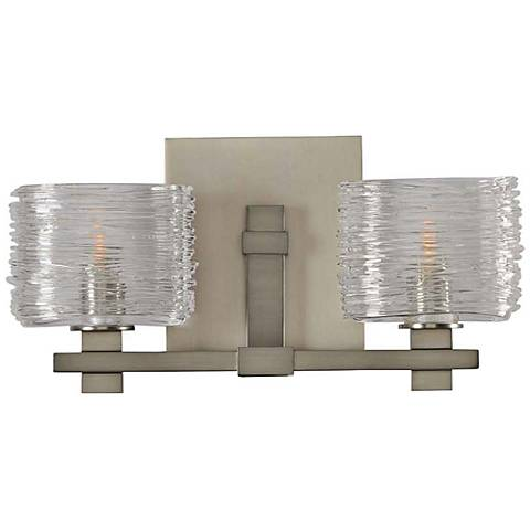 "Clearwater 13 1/2"" Wide Satin Nickel 2-Light Bath Light"