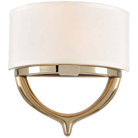 "Bombay 12 1/2""H Two-Tone Champagne Gold 2-Light Wall Sconce"