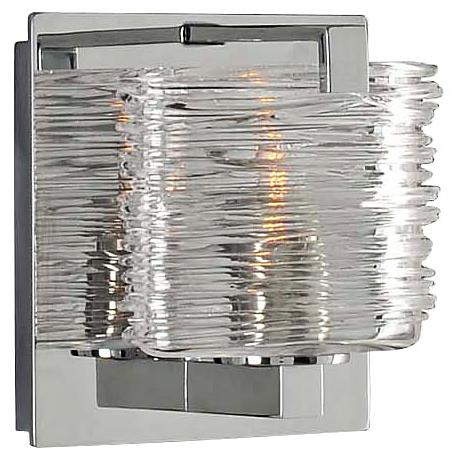 """South Bay 5"""" Wide Chrome 1-Light Wall Sconce"""