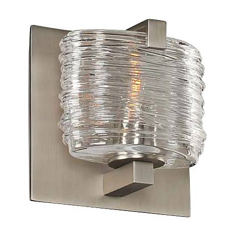 "South Bay 5"" Wide Satin Nickel 1-Light Wall Sconce"
