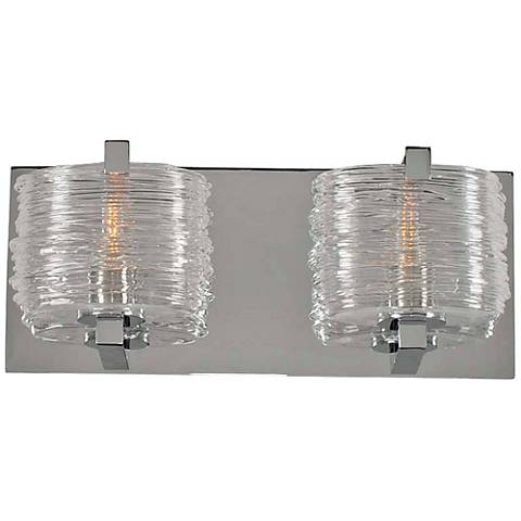 "South Bay 12"" Wide Chrome 2-Light Bath Light"