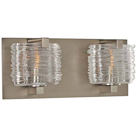 "South Bay 12"" Wide Satin Nickel 2-Light Bath Light"