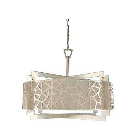 "Miramar 32"" Wide Rose Silver Pendant Light"