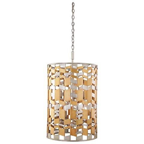 "Broadway 19"" Wide Jewel Metallic Foyer Pendant Light"